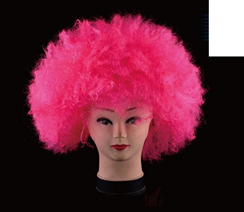 Halloween party head/ curly clown wig/ encryption with light wig-C (Womens Ghostly Wig)