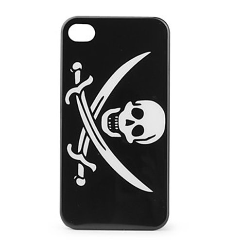 BigSmile Personalized Protective Hard Fahion A54645 Phone Case for iPhone 4 / 4S (Skeleton & Knife)
