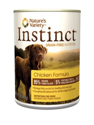 Instinct Grain-Free Canned Dog Food, Chicken Formula, 13.2-Ounce Cans (Pack of 12)