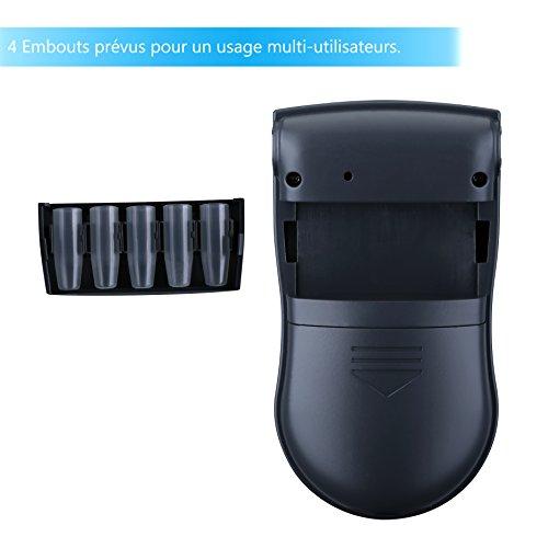 【Version Française】Pictek Alcootest Électronique Portatif, Éthylotest/ Éthylomètre Portable avec Écran LCD (5 Embouts inclus, Piles non fournies)