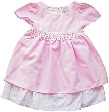 US Giftwear Girls Pink Dress Size 12m - 6x Pink