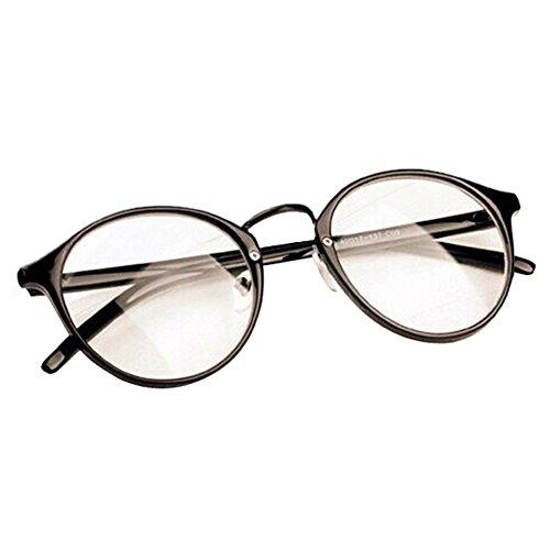 [Daxin Mens Womens Nerd Glasses Clear Lens Eyewear Unisex Retro Eyeglasses Spectacles (Brilliant] (Cheap Nerd Glasses)