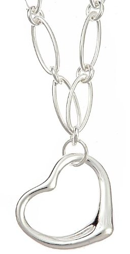 Sterling Silver Open Heart Link necklace