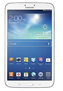 Samsung Galaxy Tab 3 8-inch Tablet (White) - (Dual Core 1.5GHz Processor, 1GB RAM, 16GB Storage, Wi-Fi, BT, 2x Camera, Android 4.2) by Samsung