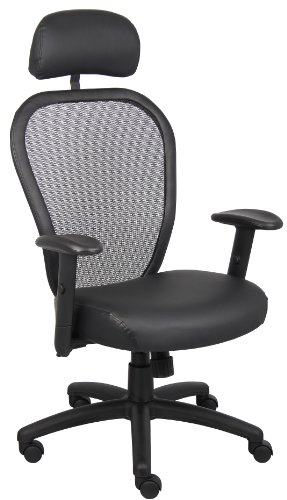 boss-office-products-b6808-hr-professional-managers-mesh-chair-with-leather-seat-and-headrest-in-bla