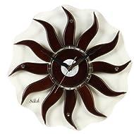 Safal Wooden Wall Clock (40.64 cm x 40.64 cm, Brown, SQ 1024)