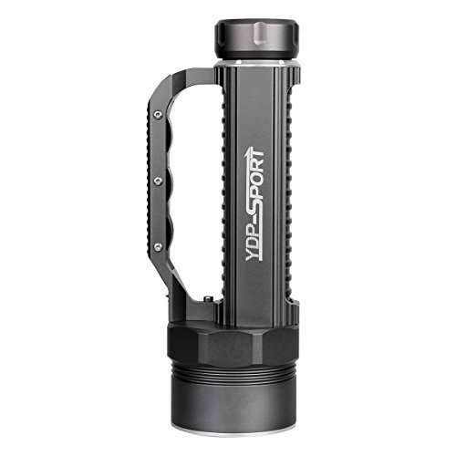 YDP-SPORT Powerful Waterproof Led Diving Flashlight Torch 6000 LM Ultra Bright 4 x CREE XML2 LEDs for Scuba Snorkeling Canoeing Fishing Hiking Emergencies Personal Safety,Include Battery and Charger