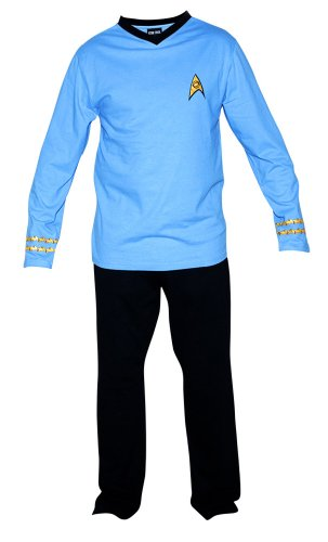 Star Trek Adult Spock Officer Uniform Pajama Set (Large)
