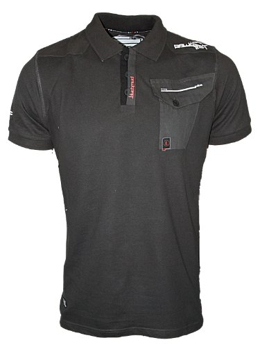 New Mens Graphite Rawcraft C707954C Designer Short Sleeved Polo Neck T-Shirt Size S