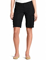 Dickies Women\'s 11 Inch Relaxed Cargo Short, Black, 4