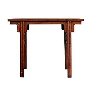 Chinese Oriental Natural Wood Plain Altar Console Table Acs3584