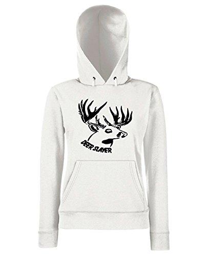 T-Shirtshock - Felpa Donna Cappuccio FUN1184 deer slayer 2, Taglia S