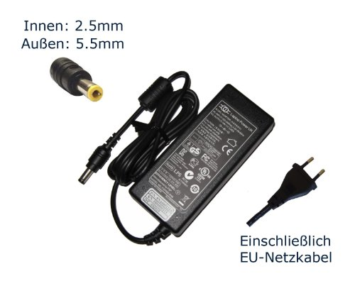 "Netzteil für Ac Adapter for Fujitsu Lifebook Lh530 Nh570 Th700 T900 Ah530 Ah550 ; Mh380 P3010 P770 Ph520 H900 V1010 V1020 V1030 V1040 ; N3410 N3430 N3510 N3511 N3520 N3530 N6110 N6210 N6220 N6410 ; ""Laptop Power"" Supply Cord Notebook Battery Charger Plug Notebook Laptop Ladegerät Aufladegerät, Charger, AC Adapter, Stromversorgung kompatibles Ersatz (12 Monate Garantie, einschließlich kostenlosem EU-Netzkabel) - ""Laptop Power"" gebrandmarkt"