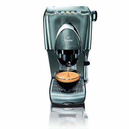 Tchibo Cafissimo Classic Kapselmaschine für Kaffee, Espresso und Caffè Crema, Noble Silver