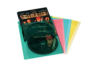 Atlantic Colored Movie/Game Sleeves - 20 (5 each of blue, red, yellow, green) (Discontinued by Manufacturer)
