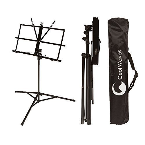 Sheet Music Stand Portable Adjustable Folding Music Holder w/ Carrying Case Bag by Ceol Waves (Music Stands Portable compare prices)