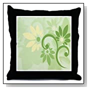 Lime Green Floral Throw Pillow by CafePress