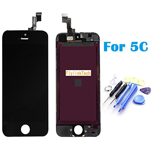 Flylinktech® New Lcd Display & Touch Screen Digitizer Assembly Replacement For Apple Iphone 5C (Black)