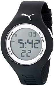 PUMA Men's PU910801017 Loop Large Digital Black and White Watch