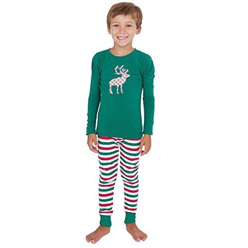 [AMA(TM) Christmas Family Sets Boys Sleepwear Nightwear Pyjamas XMAS Gift (5T, Boy)] (Xxl Santa Suits For Sale)