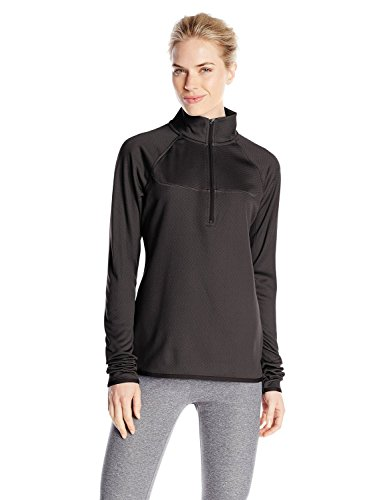 Champion Women's Half-Zip Performance Fleece Jacket, Black SD Heather, X-Large (Champion Pullover Piece compare prices)