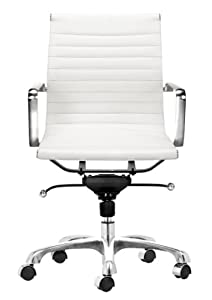 Zuo Modern Lider Office Chair White Adjustable Home Desk Chairs