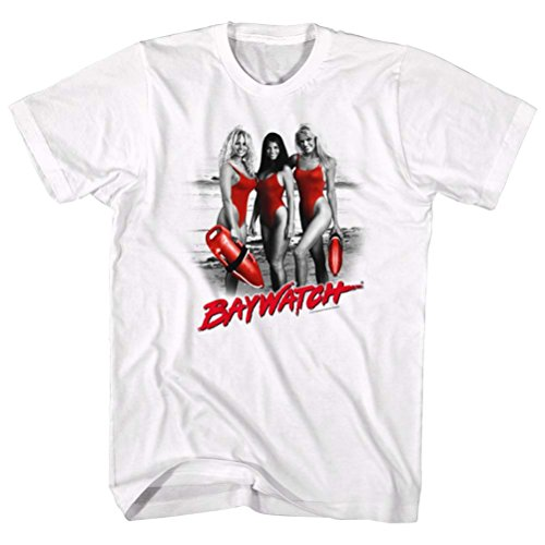 Baywatch Red Accents T-shirt, White - S to XXL
