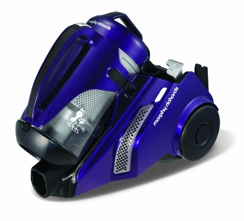 Morphy Richards Never Loses Suction 73231 Family and Pets Compact Bagless Cylinder Vacuum Cleaner, Purple