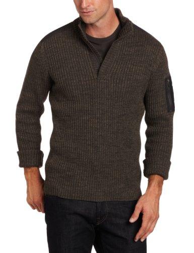 Calvin Klein Jeans Men's Long-Sleeve Military Half-Zip Sweater