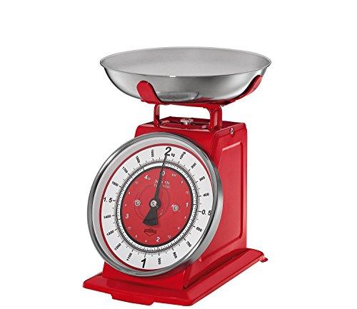 Kuchenprofi 'Nostalgia' Retro Vintage Kitchen Scales Red (Old Kitchen Scale compare prices)