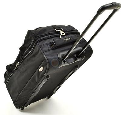 """28"""" Expandable Large Wheeled Holdall Trolley Bag Suitcase Luggage 72 Cm - Black from Wood Bridge"""