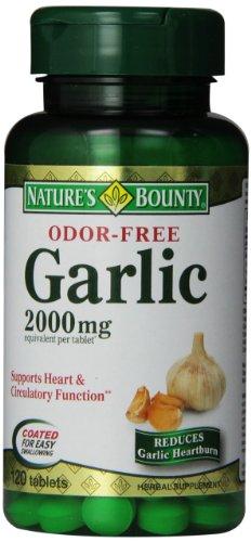 Natures Bounty Odor Free Garlic 2000 mg Tablets - 120 Ea
