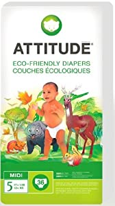 Attitude Eco Friendly Size 5 Nappies - 3 pack x 22 (66 Nappies)