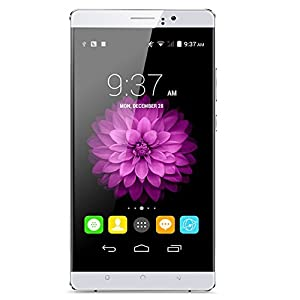 [2016 New Release] PADGENE® S9 Unlocked 3G Smartphone, 6 inch IPS Screen(1280*720) Android 5.1 Mobile Phone---MTK6580 Quad Core 1.3GHz,1GB ROM 8GB RAM, Dual Sim(Dual Standby), Dual Camera(2.0M/5.0M),WIFI GPS G-Sensor SIM-Free 2G/3G Smartphone Phablet (White)