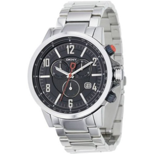 DKNY Stainless Steel Quartz Black Dial Men's Watch - NY1326