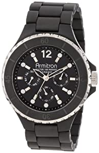 Armitron Men's 20/4763BKBK Black Ceramic Multi-Function Dial Dress Bracelet Watch