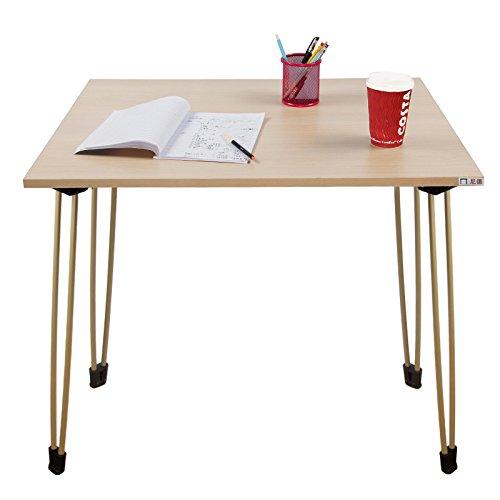 Needデスクポータブル折りたたみデスクコーヒーテーブル、屋外での使用チークカラートップ80*60cm