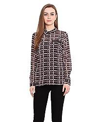 Blink Printed Coloured Georgette Shirt Large