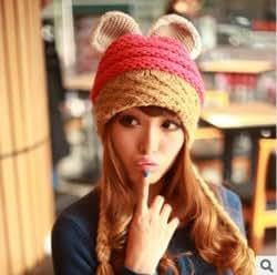 Amazon.com : Autumn and winter new female devil horn knit cap