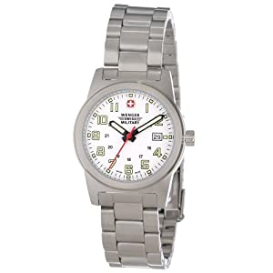 Wenger Swiss Military Women's 72939 Classic Field White Dial Steel Bracelet Military Watch
