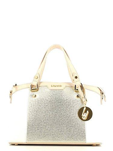 Liu Jo Boston Bag, Bauletto, Borsa delle Donna - white/light gold N16245E0087-A3071
