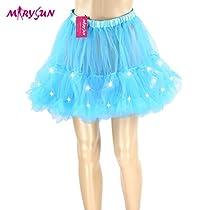 Led Tutu Skirt Light Up Rosy Skirt for Women Girls 80s Costume Skirt for Party