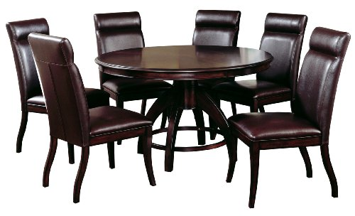 Dining Set Dark Espresso Set Includes 1 Table And 6 Stools Dining