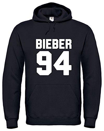 Justin Bieber 94 / Bieber 94 / Justin Bieber Hoodie / Bieber Felpa Con Cappuccio / HD2 (M, Nero)