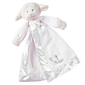 Mary Meyer Christening Blanket, Lamb, Colors may vary