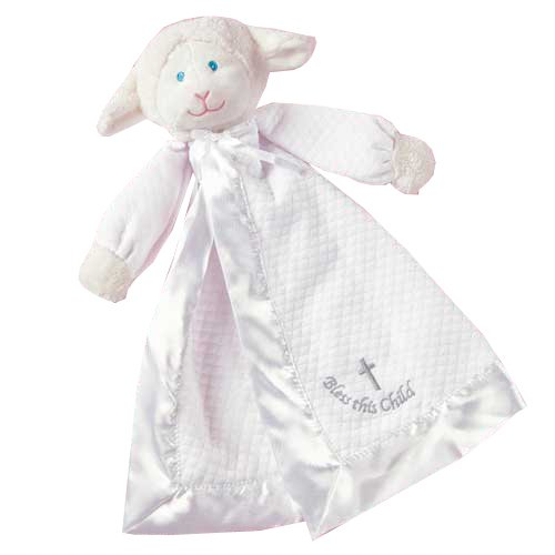 41WU EGN2eL Mary Meyer Christening Blanket, Lamb, Colors may vary