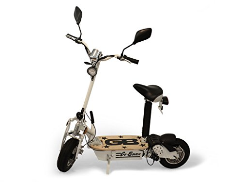 800W Electric Folding Scooter - White