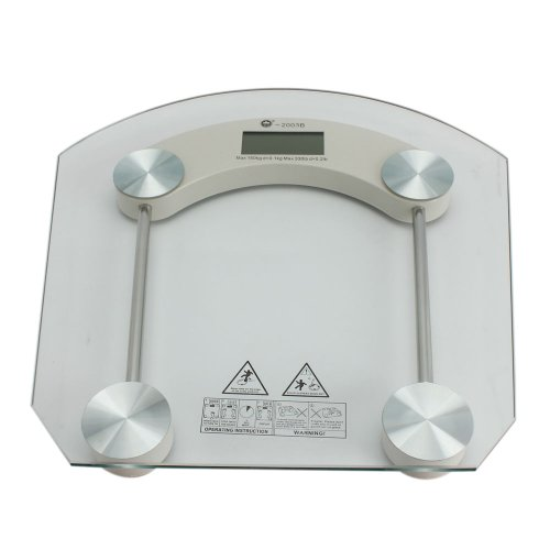 Cheap 150Kg x 100g 2003B Toughened Glass LCD Body Digital Scale ([GT]89002855)