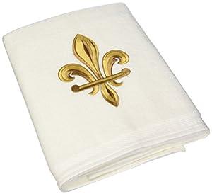 Avanti fleur de lis bath towel white home kitchen - Fleur de lis bath towels ...