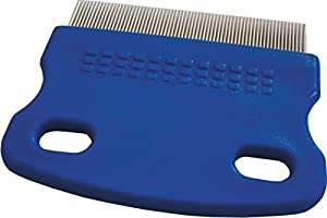 Nit Comb, Lice Detection Comb, Dog Comb, Pet Grooming Comb, Stainless-Steel, blue by Saniversum UG